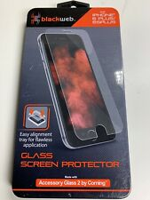BLACKWEB GLASS SCREEN PROTECTOR - FOR IPHONE (6&6S) PLUS - #BWB16WI003