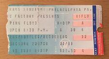 1988 PINK FLOYD PHILADELPHIA CONCERT TICKET STUB MOMENTARY LAPSE OF REASON TOUR