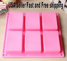 Rectangle Silicone Soap Making Molds Baking DIY Mold For Cake Making ~ US Seller