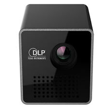 "1.8"" Cube Mini Portable DLP Projector LED HD Beamer Private Home Cinema Theater"
