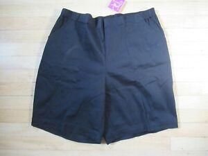 Just My Size Women's 2X (16W) Pull-On Black Shorts w/ Pockets Elastic Waist NWT
