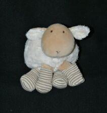 Peluche doudou mouton boule NATALYS blanc beige chaussettes 17 cm de long TTBE