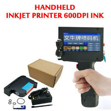 Handheld Inkjet Printer 600DPI Ink Date Words QR Code Barcode Logo Machine