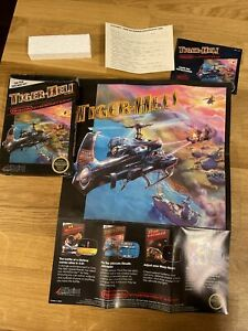 1987 NES Tiger-Heli Box ONLY Nintendo with extras - Poster and Registration Card