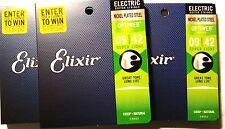 Elixir Guitar Strings 3 pack Optiweb Electric Super Light 09-42 Long Life