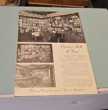 "1959 Christie's Restaurant Hall of Fame Mega 11"" Postcard Newport Rhode Island"