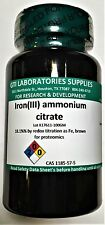 Iron(III) ammonium citrate, 18.1% as Fe, brown, for proteomics, 100g