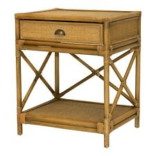 STUNNING CAYMAN RATTAN BEDSIDE TABLE HAMPTON STYLE  RRP $800.00