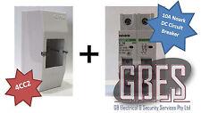 Noark DC Circuit Breaker 10A 2 Pole & Switchboard Enclosure Clipsal 4CC2 Combo