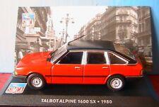 TALBOT ALPINE 1600SX 1980 ROUGE IXO 1/43 AVEC TOIT NOIR WITH BLACK ROOF 1:43 NEW