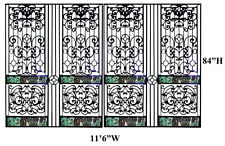Victorian Cast Iron Entry or Driveway Gates, #9188A