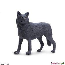 Schwarzer Wolf 12 cm Serie Wildtiere Safari Ltd 112989