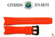 Citizen Eco-Drive E168-S070830 23mm Orange Rubber Watch Band Strap