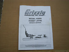 Owners Manual  from Grizzly Model H2669 Hobgby Lathe 22 pages used good shape