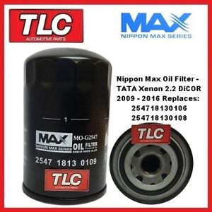 Nippon-Max Oil Filter - TATA Xenon 2.2 DiCOR Diesel 2009 - 10/13