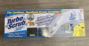 Turbo Scrub 360 Handheld Cordless, Power Scrubber For Floor and Tile White