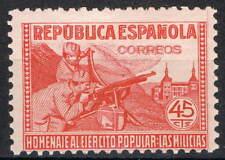 [CF2632] España 1938, Milicias. Homenaje al ejército popular, 45 c. (MNH)