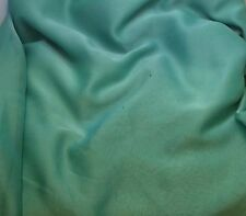 "Faux Silk CHIFFON Fabric IRIDESCENT AQUA ICE 12""x27"" remnant"