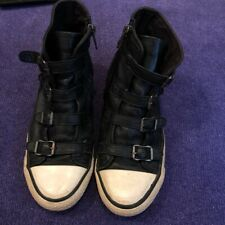 ASH virgin black leather sneaker Size 6.