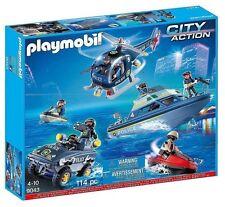 Playmobil 9043 Polizei S.W.A.T. Mega Set mit Motor Neu & Ovp City Action