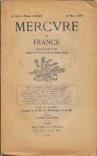 MERCURE DE FRANCE n° 310 .  16 mai 1910 .