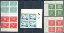 EUROPA 1963  CORNER BLOCKS OF FOUR MINT NH AS SHOWN