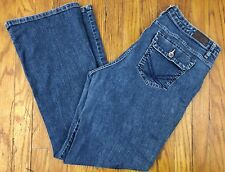 Lee Womens Straight Lower on the Waist Blue Jeans Sz 18 Medium Actual W34 L30.5