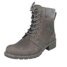 Ladies Clarks Laceup & Zip Ankle BOOTS Orinoco Spice Grey Nubuck 6 UK E