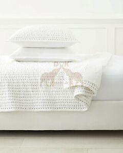 Kantha Quilt, Handmade Quilt, Natural White Kantha Blanket Throw, Queen Size