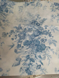 Croscill -NEW Blue & White Blousoum Valance-With Tissue & Instructions