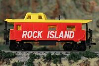 HO Scale Red and Yellow Rock Island Caboose no road number