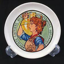 Societe Laitiere Des Fermiers Normands 6.25 Inch Cheese Plate Milk Maid