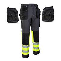New Detachable Multi-Function Pockets - WORK TROUSERS - Heavy Duty Pants KneePad