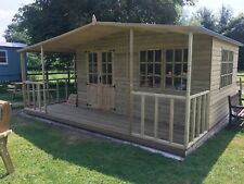 THE CHALET A TANALISED 22mm LOG LAP T&G LUXURY SUMMER HOUSE