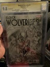 Stan Lee Signed death of wolverine 1 cgc 9.8
