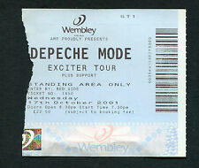 2001 Depeche Mode Concert Ticket Stub Wembley London Exciter Tour