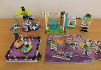 LEGO 41133  41128 Friends Amusement Park Bumper Carsand Space Ride Incomplete