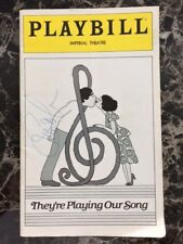 """Lucie Arnez AUTOGRAPHED 1979 Playbill """"They're Playing Our Song"""""""