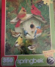 Feathered Friends Springbok 350 Piece Puzzle NEW Easy Grip Pieces