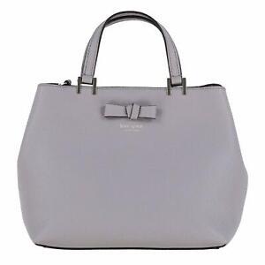 Kate Spade New York Womens Gwyn Pershing Street Pebbled Leather Satchel Hand Bag