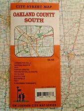 OAKLAND COUNTY SOUTH MICHIGAN CITY MAP Travel RoadMap Street Road Tour MI AAA