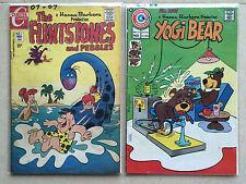 THE FLINTSTONES #1 VG+ & Yogi Bear #23 VG+ CHARLTON COMICS 1970 HANNA-BARBERA
