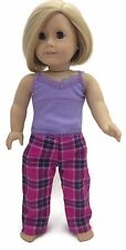 Lavender & Plaid Pajamas Sleepwear fits 18 inch American Girl Doll Clothes