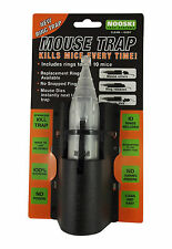 Nooski Mouse Trap Kills Mice EVERY Time Clean and Easy 100% Guaranteed No Poison
