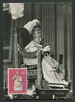 VATICAN MK 1959 PAPST JOHANNES POPE PAPA PAPIEZ CARTE MAXIMUM CARD MC CM d4834