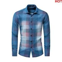 Luxury Dress Shirts Long Sleeve Fashion New Mens Casual Stylish Casual Slim Fit