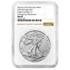 Presale - 2021 (S) $1 Type 2 American Silver Eagle NGC MS69 Emergency Production