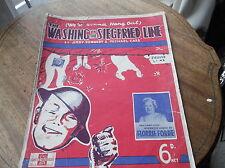 VINTAGE ORIGINALE SPARTITO 1939 stare lavaggio Siegfried linea Florrie FORD