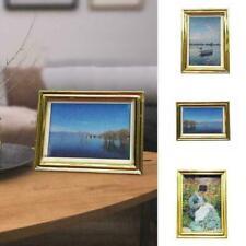 Mini Frame Scenery Oil Painting Miniature Dollhouse Garden X1I3 Home Decor L4H7