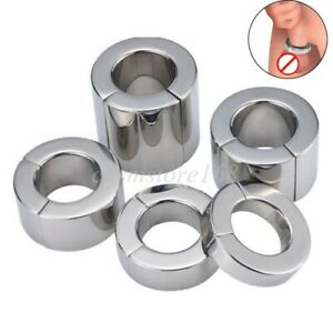 Heavy Duty Magnetic Stainless steel Ball Stretcher Man Enhancer Chastity Ring